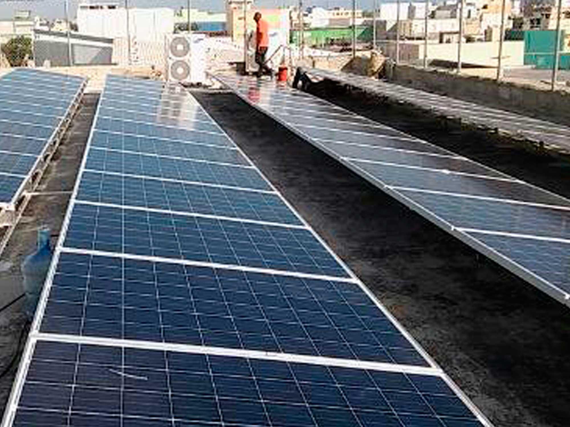 sistema energía fotovoltaica